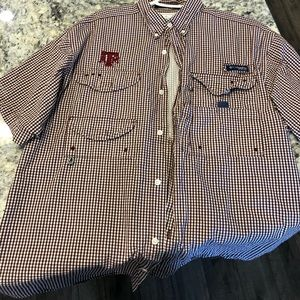 Men's Columbia PFG Texas A&M Button Down